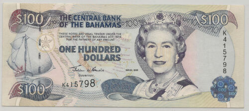 2000 BAHAMAS 100 DOLLARS  ~ NICE UNC ~ PRICED RIGHT! (798)