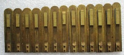 13 Antique Brass Sub Base Reeds Pump Parlor Organ  Miller Organ Co.