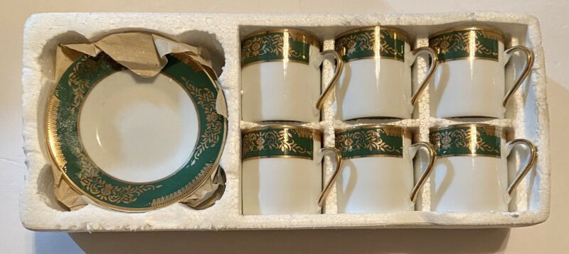 Vintage 12 Pc Imperial Fine China Porcelain Coffee Espresso Tea Set - Sheng Xing