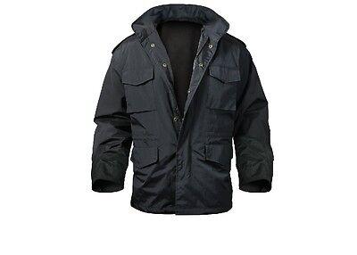 Rothco 8644 Black Nylon M-65 Storm Jacket