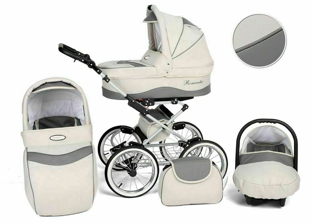 Passeggino Trio Baby Carrozzina 3in1 Seggioliono Ovetto Auto Kunert Romantic