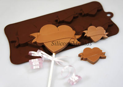 Heart Tattoo Valentine Chocolate Silicone Baking Mould Candy Cake Decorating Pan