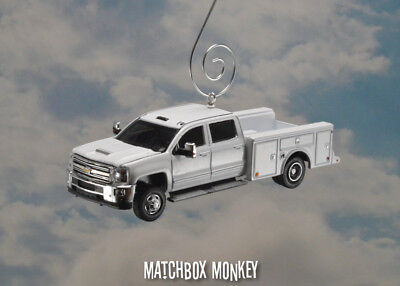 2018 Chevy Silverado 3500HD Crew Cab Pickup Service Truck Christmas Ornament for sale  Shipping to India