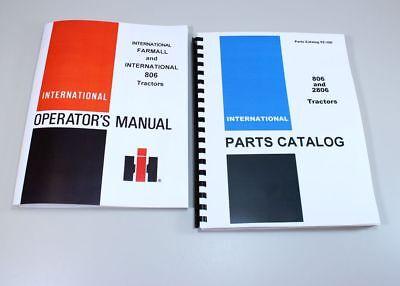 Set International Farmall 806 Tractor Owner Operator Parts Manuals Catalog Book