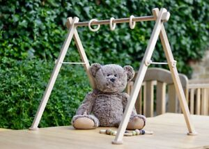 Wooden baby gym frame Deluxe Scandinavian play gym arch Handmade Montessori toys