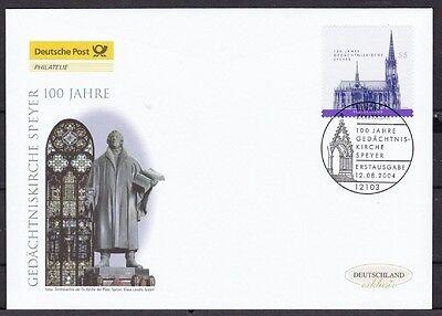 BRD 2004 Deutsche Post FDC 100 Jahre Gedächtniskirche Speyer
