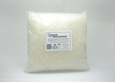 Sodium Thiosulphate 1kg - Pure Crystals - Photographic Grade
