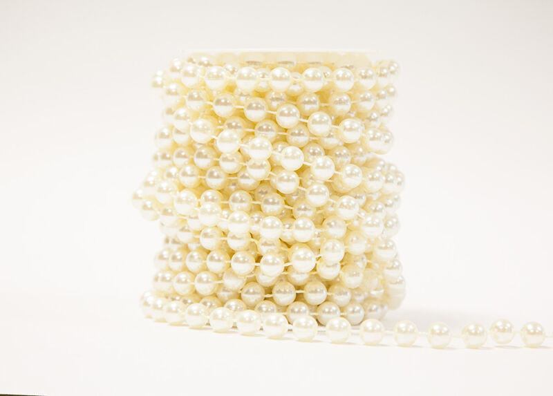 PEARL GARLAND STRING REEL PEARLS ON A REEL AVAILABLE IN 03 COLORS / 03 SIZES