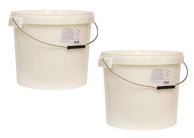 2 Stück 20L Eimer mit Deckel Behälter Farbeimer  Gärbehälter Gäreimer 2 x 20l
