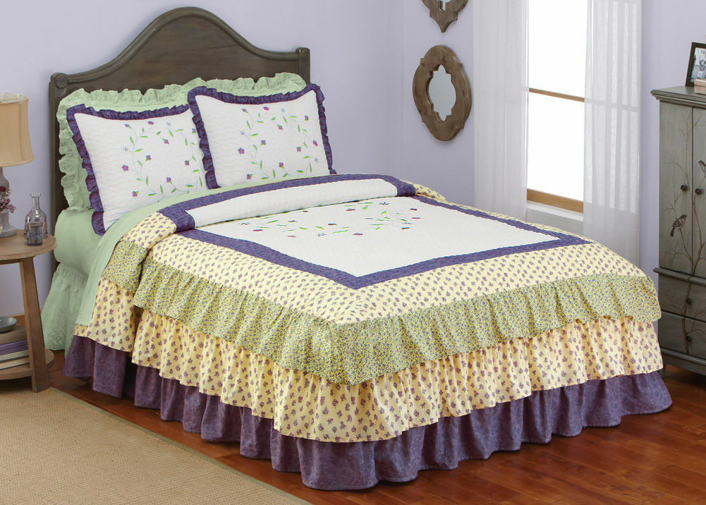 How to Make a Ruffled Bedspread | eBay Ruffled Bedspreads