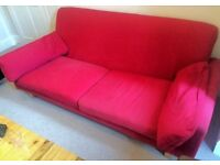 RED TREE Seater Large Ikea Sofa - LOCAL FREE DELIVERY