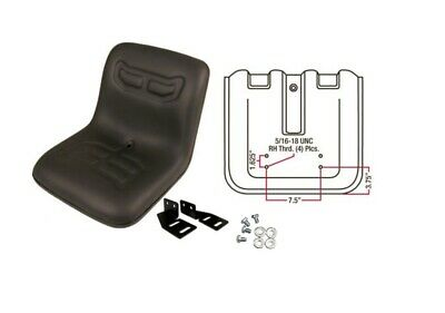 Compact Tractor Flip Seat W Brackets Kubota Yanmar Ford Satoh Massey Case Ih