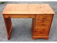 SOLID PINE DESK OR DRESSING TABLE