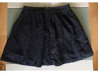 SuperDry Women's dark blue skater skirt size UK XS