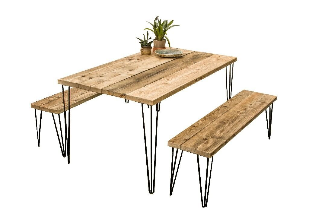 bespoke farmhouse kitchen tables uk handmade table plans dining with benches industrial rustic furniture reclaimed wood natural finish
