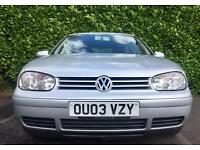 2003 VW GOLF 1.9 GT TDI 130 BHP 6 SPEED GEARBOX 9 YEARS OWNED MINT BODYWORK & PAINT HPI CLEAR