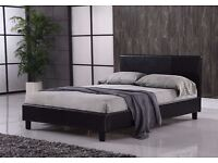 BEST SELLING BRAND /// FREE DELIVERY /// DOUBLE LEATHER BED WITH SEMI ORTHOPEDIC MATTRESS
