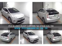 TAXI CARS HIRE, TAXI CARS RENTAL, TAXI TOYOTA PRIUS HYBRID WOLVERHAMPTON LICENSE