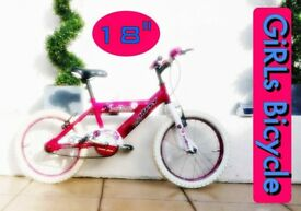 5- 9 YEAR OLD BIKE BEAUTIFUL ROCKSTAR 🌟 Bicycle CYCLE Kids GIRLS PINK SUPER TRAINING 1st Almost New