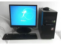 All In One (i5, PC, Monitor, K/M, 4GB Ram, WIFI, Adobe CS6, Office 2013, Core E8500) Desktop PC, PC