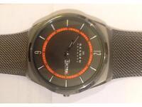 Skagen Melbye Mens Titanium Mesh Grey Bracelet Watch
