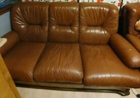 ITALIAN SADDLE LEATHER 3 SEATER SOFA