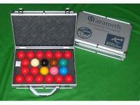 Aramith superpro 1g snooker balls with aluminium case