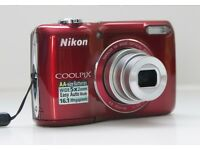 Nikon Coolpix L26 digital camera. 16.1MP, 5x Optical Zoom, 3 inch LCD
