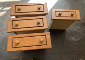 Solid wood kitchen cupboard doors and drawer units