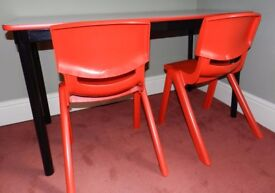 Children's desk and chairs – ideal for homeschooling, homework, art & crafts - Sebel