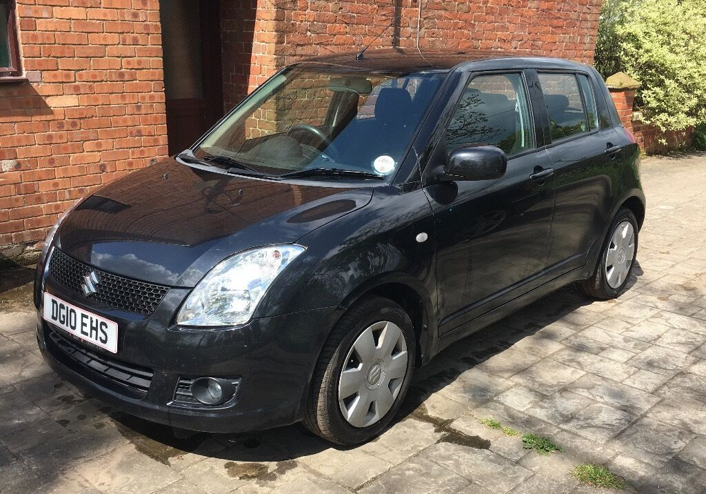 black suzuki swift 2010 1 3 petrol 5 door hatchback in shropshire gumtree. Black Bedroom Furniture Sets. Home Design Ideas