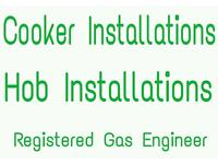 Cooker installations Hob installations by a gas safe engineer/gas fitter