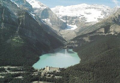 AERIAL VIEW OF LAKE LOUISE BANFF NATIONAL PARK, Canada Lg. Postcard! ()