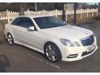 2012 Mercedes Benz E220 cdi AMG Auto SAT NAV Sport white e350 e250 c220 c250
