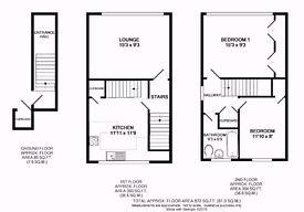 Large Two bedroom split level maisonette