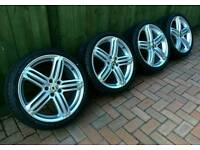 Audi alloys wheels and tyres