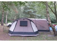 Gelert Horizon 8 Tent 8 person tunnel tent 4 separate bedrooms and big Porch