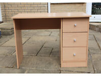 Small desk with 3 drawers
