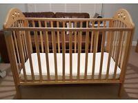 Mothercare cot-oak