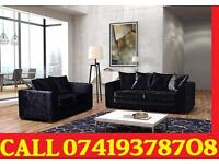 CRUSH VELVET SOFA 3 AND 2 SEATER SOFA OR CORNER SOFA