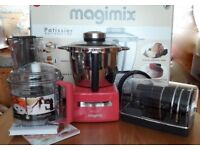 MAGIMIX PATISSIER in Raspberry, New and Boxed with all Accessories