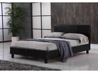 🔵💖🔴SUPERB QAULITY🔵💖🔴(4ft6inch) Double & (5ft)King Size Leather Bed Frame W Opt Mattress
