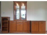 Living Room Furniture Presentation Cabinets with Mirrors and Lights - Very Good Condition