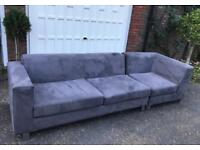 3/4 seater faux suede sofa