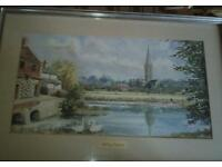 Water colour by local Norfolk artist P F Tunstall