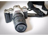 Pentax MZ-M with 35-80 lens plus Teleconverter