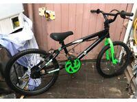 bike BMX 360 green black bicycle