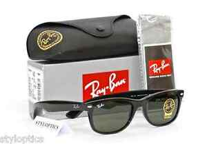 Ray-Ban NEW WAYFARER RB2132 901 902 622 Large Black Sunglasses AUTHENTIC