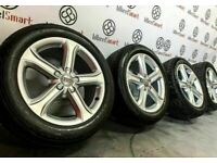 "GENUINE AUDI 17"" A4/A5 ALLOY WHEELS & TYRES (Fits VW) - 225/50/17 - 5 x 112 - 213"