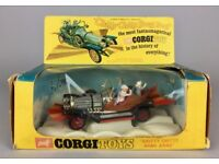 CORGI TOYS -CHITTY CHITTY BANG BANG 266- VINTAGE 1967 MODEL CAR -BOXED & FIGURES